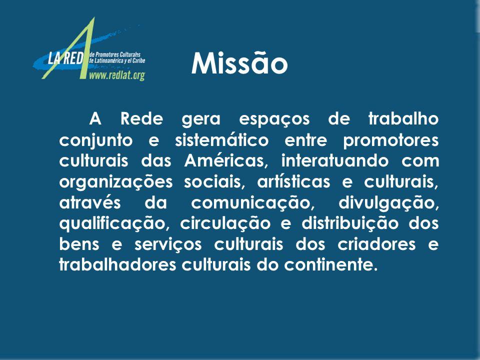 OBJETIVOS Promover estratégias que fomentem o respeito à diversidade cultural; Incrementar a circulação e intercâmbio dos produtos e serviços culturais da América Latina e do Caribe;