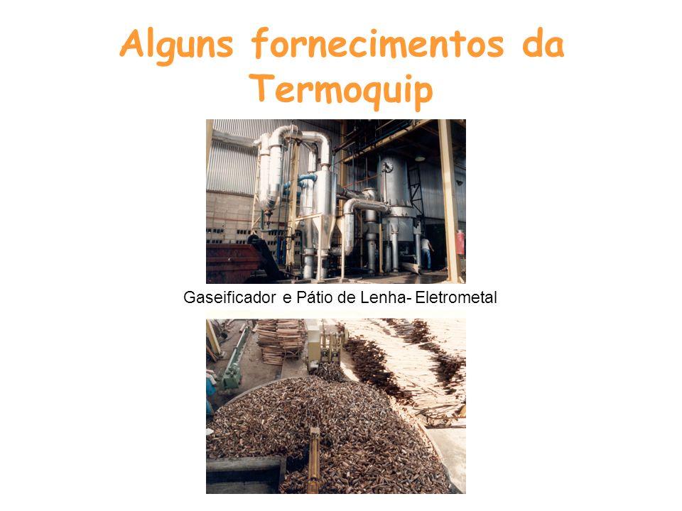 Alguns fornecimentos da Termoquip Gaseificadores – Siderúrgica Dedini Queimadores e controle de combustão Fornos de Tratamento Térmico - Dedini