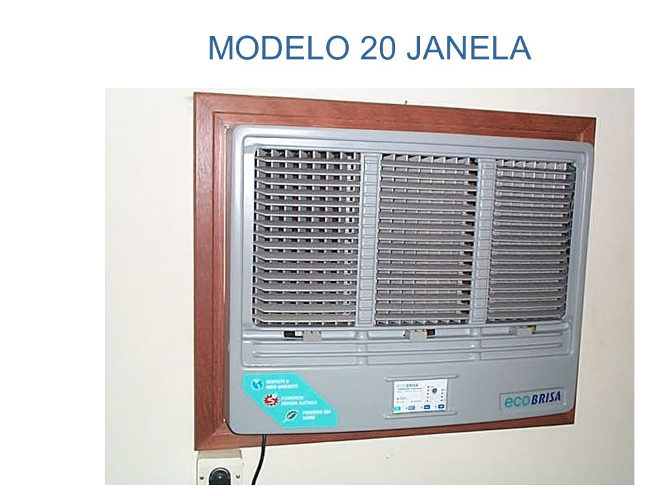 BOM FUNCIONAMENTO O ar não deve recircular pelo equipamento. Na configuração ideal, ele é embutido na parede.