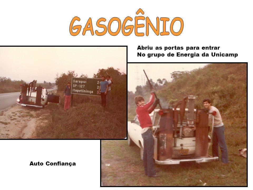 Estágio no Centro de Nacional de Engenharia Agrícola – Fazenda Ipanema. Gasogênio - Automóvel movido a Gás de Carvão Vegetal. Duas grandes influências