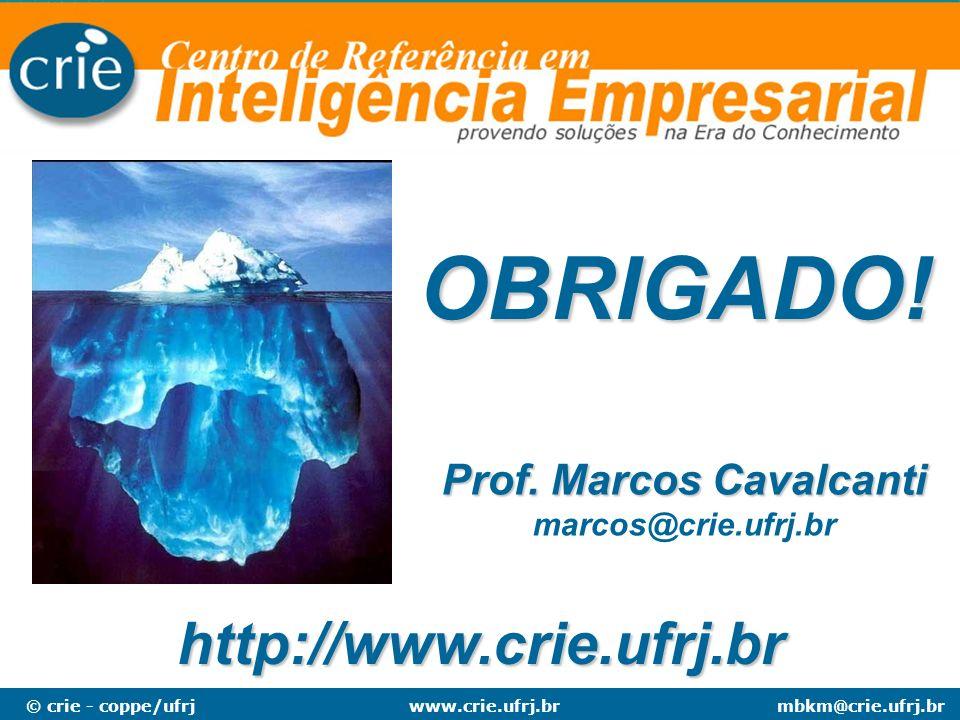 © crie - coppe/ufrjmbkm@crie.ufrj.brwww.crie.ufrj.br Prof. Marcos Cavalcanti Prof. Marcos Cavalcanti marcos@crie.ufrj.br http://www.crie.ufrj.br OBRIG
