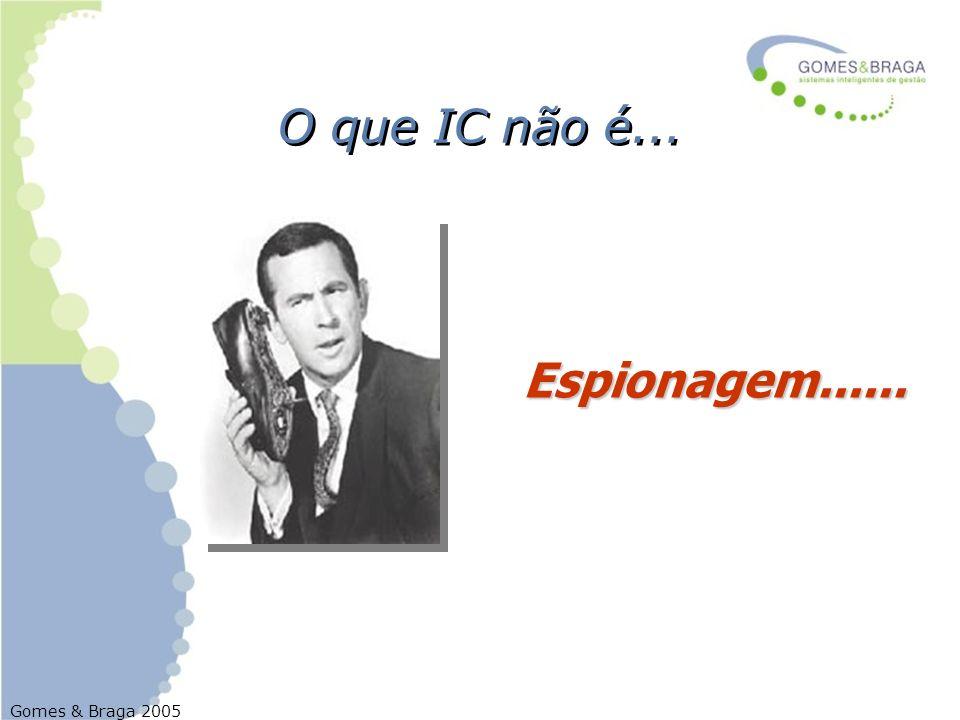 Gomes & Braga 2005 O que IC não é... Espionagem......