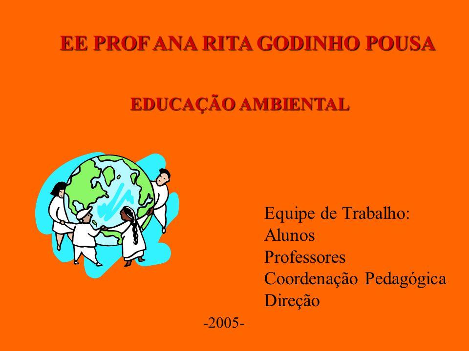 EE PROF ANA RITA GODINHO POUSA EDUCAÇÃO AMBIENTAL Equipe de Trabalho: Alunos Professores Coordenação Pedagógica Direção -2005-