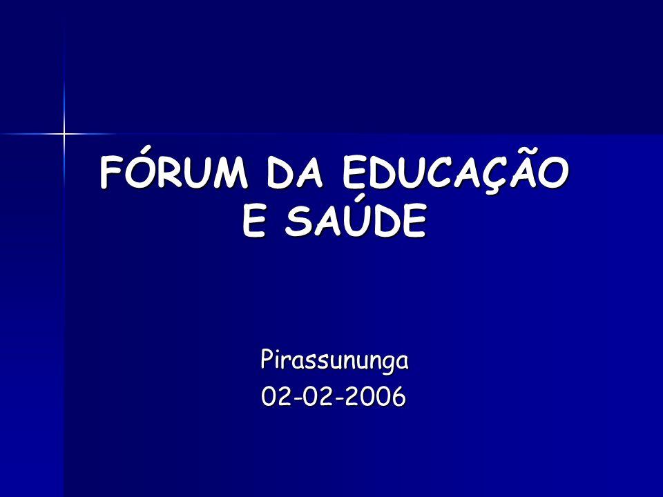 FÓRUM DA EDUCAÇÃO E SAÚDE Pirassununga02-02-2006