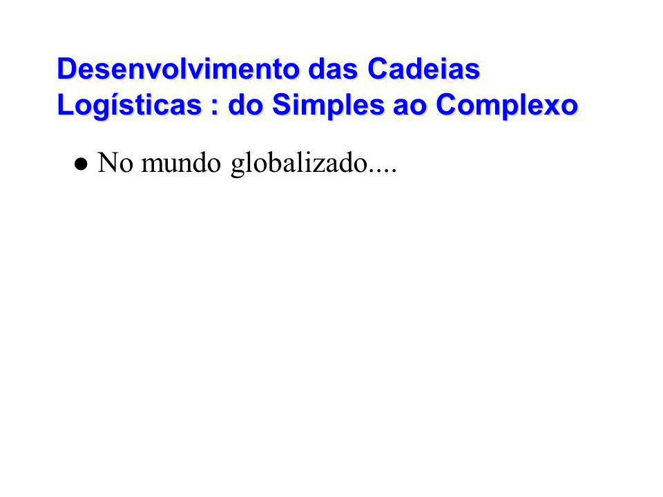 Desenvolvimento das Cadeias Logísticas : do Simples ao Complexo No mundo globalizado....
