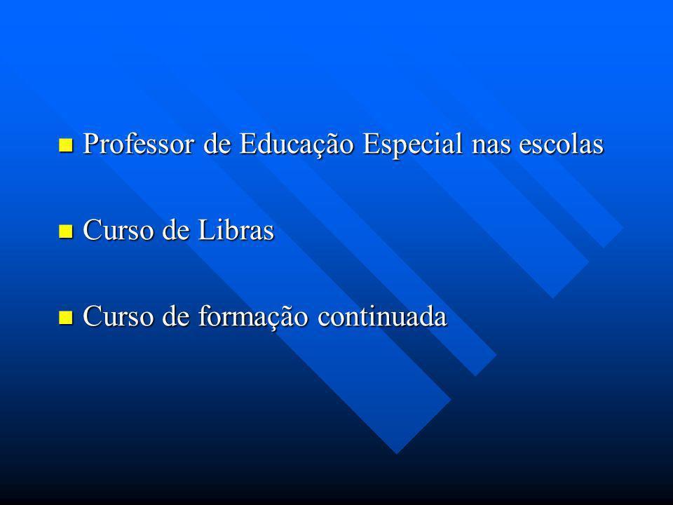 Cursos de Formação 2006/2007 Oficina de LIBRAS – Essas oficinas são ministradas por Surdos Oficina de LIBRAS – Essas oficinas são ministradas por Surdos Curso sobre Letramento e Surdez desde 2006 sob a coordenação das Professoras Dra.