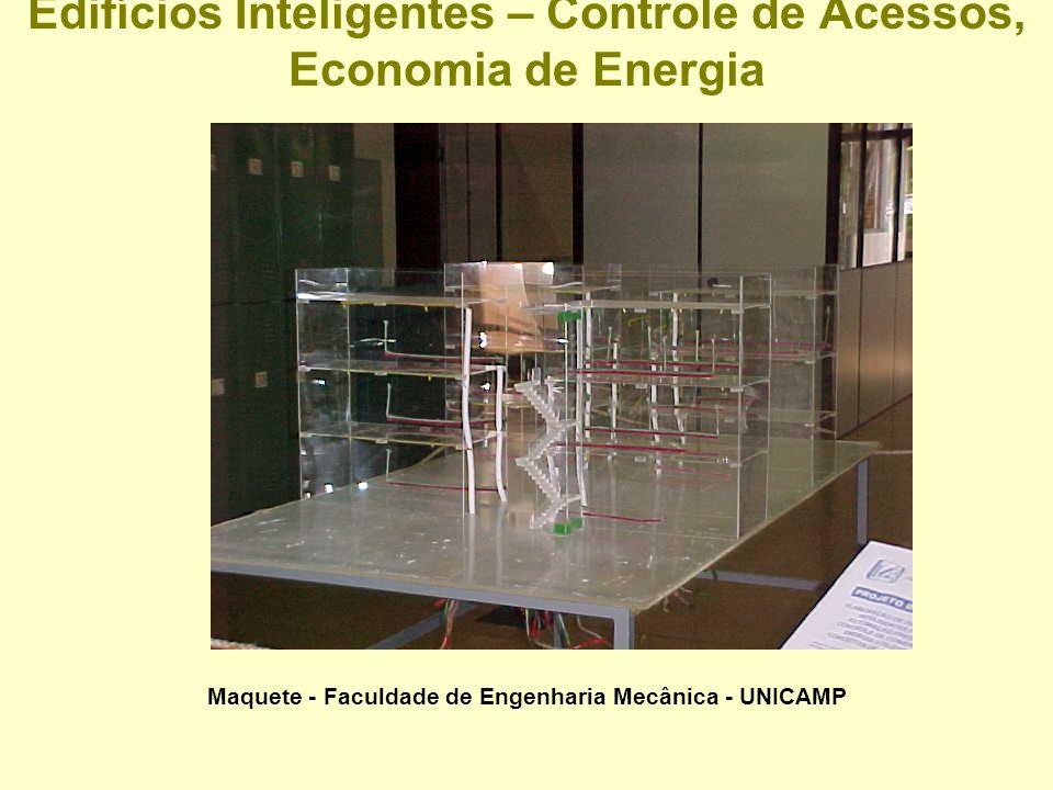 Edifícios Inteligentes – Controle de Acessos, Economia de Energia Planta 3o Piso - FEM-UNICAMP