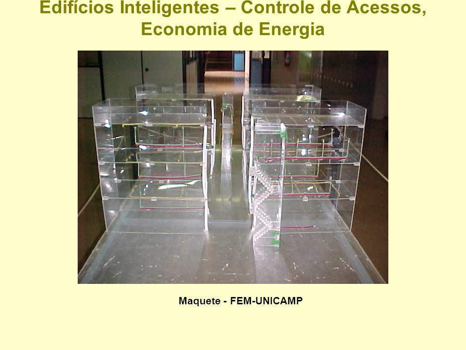 Edifícios Inteligentes – Controle de Acessos, Economia de Energia Maquete - Faculdade de Engenharia Mecânica - UNICAMP