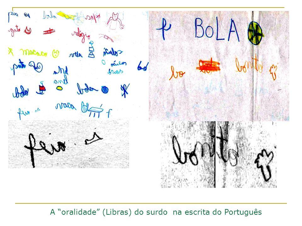 A oralidade (Libras) do surdo na escrita do Português