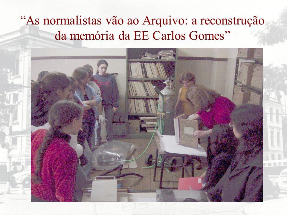 As normalistas vão ao Arquivo: a reconstrução da memória da EE Carlos Gomes