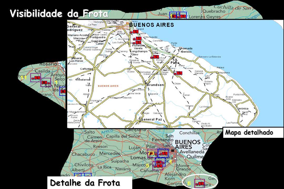 Detalhe da Frota Visibilidade da Frota Mapa detalhado