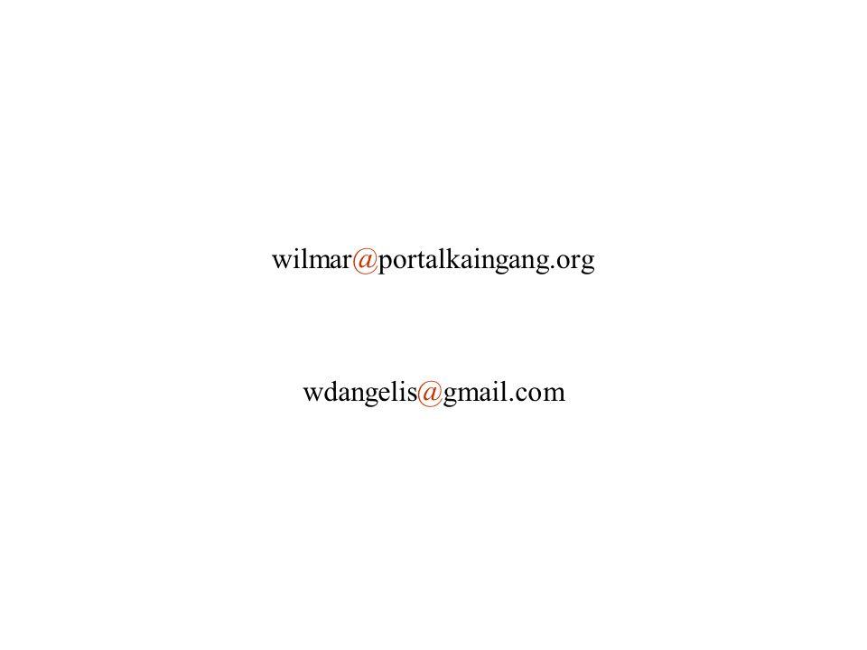 wilmar@portalkaingang.org wdangelis@gmail.com