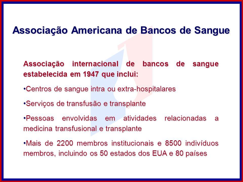 Associação internacional de bancos de sangue estabelecida em 1947 que inclui: Centros de sangue intra ou extra-hospitalaresCentros de sangue intra ou