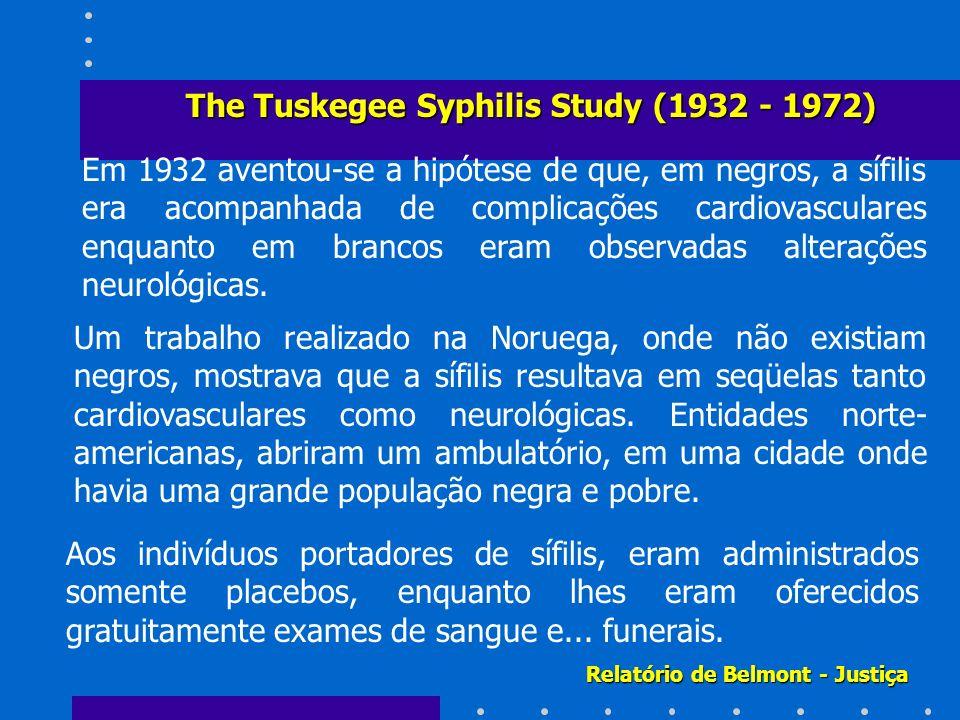 Em 1932 aventou-se a hipótese de que, em negros, a sífilis era acompanhada de complicações cardiovasculares enquanto em brancos eram observadas altera