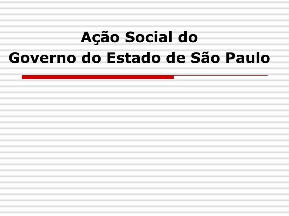 Antecedentes A recente divulgação do Atlas do Desenvolvimento Humano, pelo Pnud, mostra a melhoria dos indicadores sociais, mas também o agravamento da pobreza, especialmente nas regiões metropolitanas, com destaque para a RMSP Os dados da Pnad 2001 apontam, no Estado de São Paulo, para 1,1 milhão de famílias com renda familiar inferior a R$100 per capita das quais, 463 mil, estão em situação de extrema pobreza, ou seja, com renda inferior a R$50 per capita A dispersão de recursos devido a pulverização dos programas sociais estaduais em diversos órgãos e secretarias vem resultando em baixa efetividade