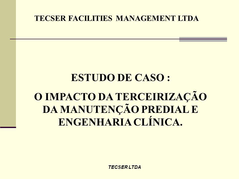 TECSER LTDA RESULTADOS OBTIDOS TEMPO DE ATENDIMENTO ( MIN )