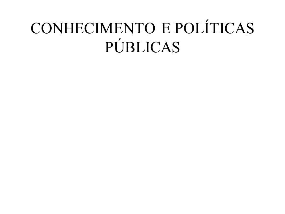 CONHECIMENTO E POLÍTICAS PÚBLICAS