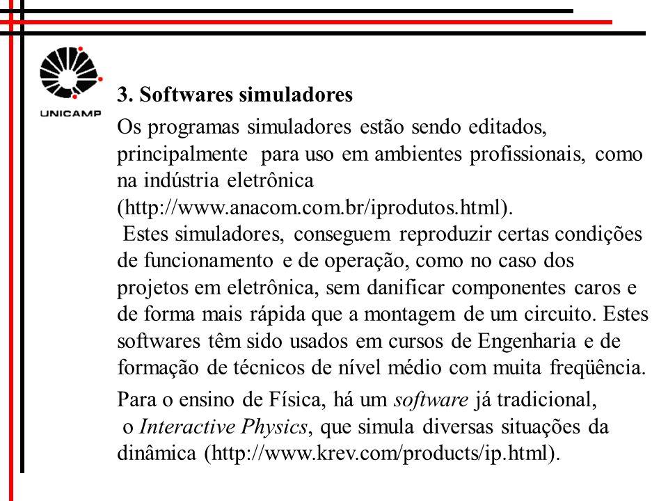 http://www.ensinonovo.if.usp.br http://micro.magnet.fsu.edu/primer/java/ electronmicroscopy/magnify1/index.html 2. Uso de applets para simulação on li