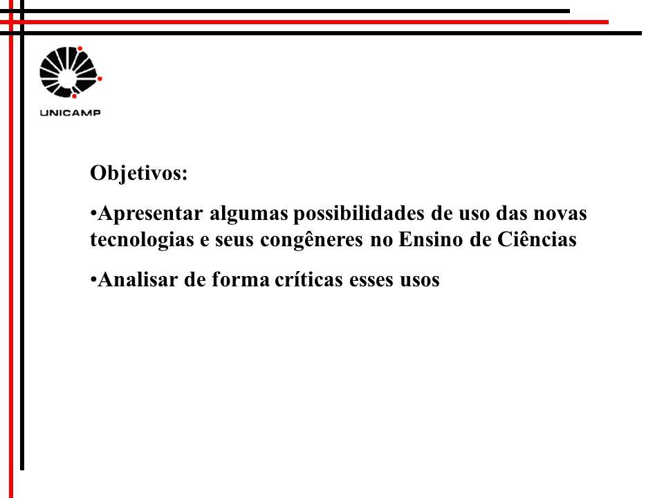 As Novas Tecnologias e Ensino de Ciências DIRCEU DA SILVA Faculdade de Educação UNICAMP dirceu@unicamp.br http://www.fae.unicamp.br/dirceu