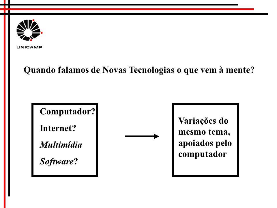Quando falamos de Novas Tecnologias o que vem à mente.