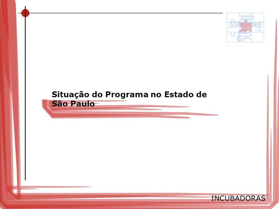 Situação do Programa no Estado de São Paulo
