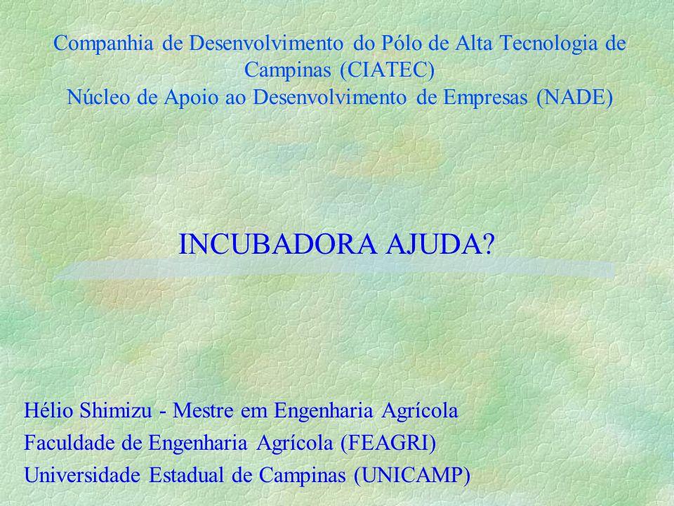 FORMAÇÃO ACADÊMICA §Conhecimentos sobre modernização da agricultura §Revolução Verde §Água, energia e biodiversidade