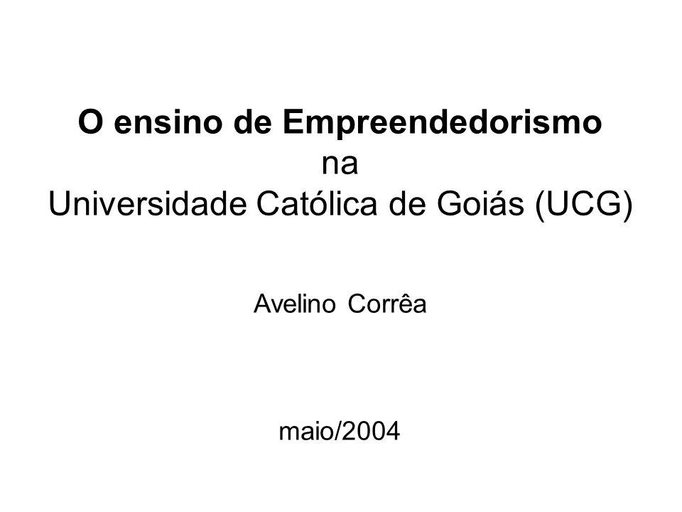 UCG Ensino de Empreendedorismo Barreiras ao ensino de Empreendedorismo.