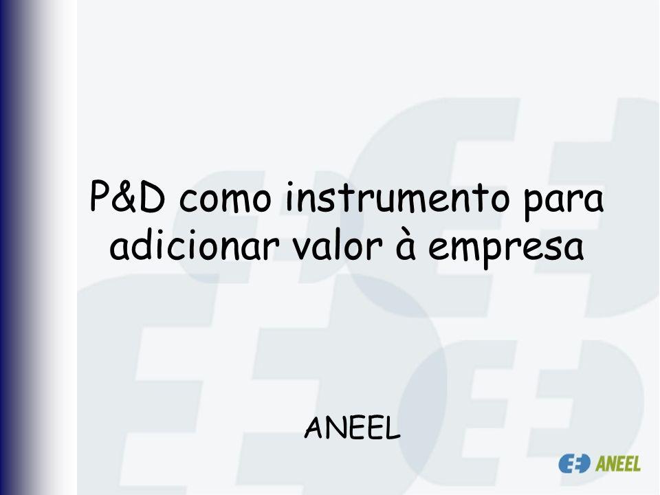 P&D como instrumento para adicionar valor à empresa ANEEL