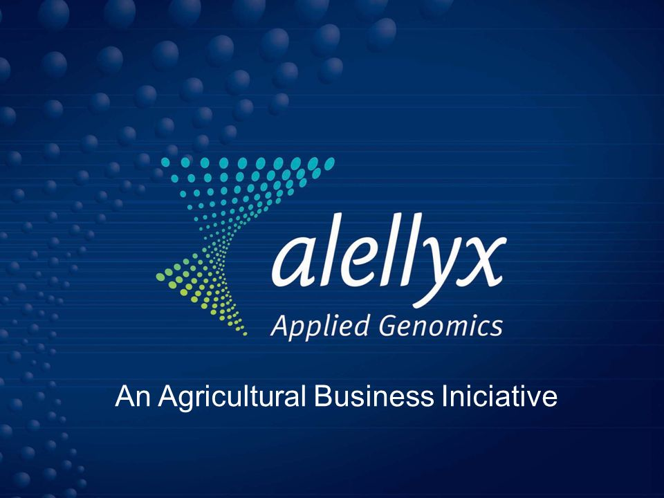 Alellyx é uma spin-off dos Projetos Genoma da FAPESP Investimento de Capital de Risco da Votorantim Ventures Capital – Grupo Votorantim US$ 11 mihões Foco Inicial: Laranja; Cana-de-Açucar; Eucalipto; Uva e Soja
