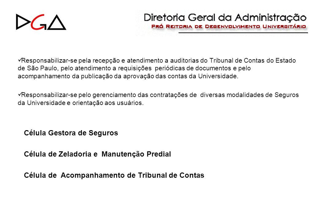 Responsabilizar-se pela recepção e atendimento a auditorias do Tribunal de Contas do Estado de São Paulo, pelo atendimento a requisições periódicas de documentos e pelo acompanhamento da publicação da aprovação das contas da Universidade.