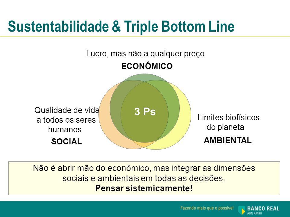 Não é abrir mão do econômico, mas integrar as dimensões sociais e ambientais em todas as decisões. Pensar sistemicamente! AMBIENTAL Limites biofísicos