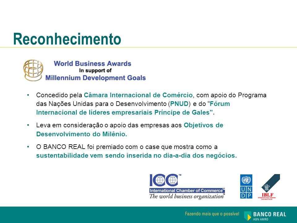Concedido pela Câmara Internacional de Comércio, com apoio do Programa das Nações Unidas para o Desenvolvimento (PNUD) e do