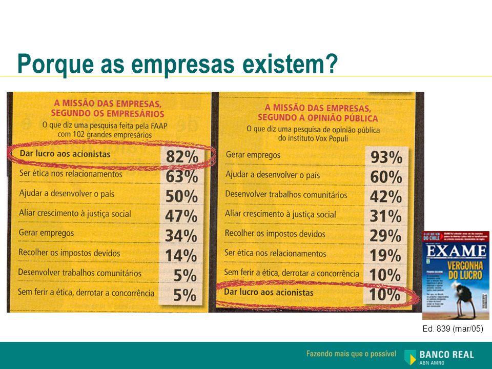Ed. 839 (mar/05) Porque as empresas existem?