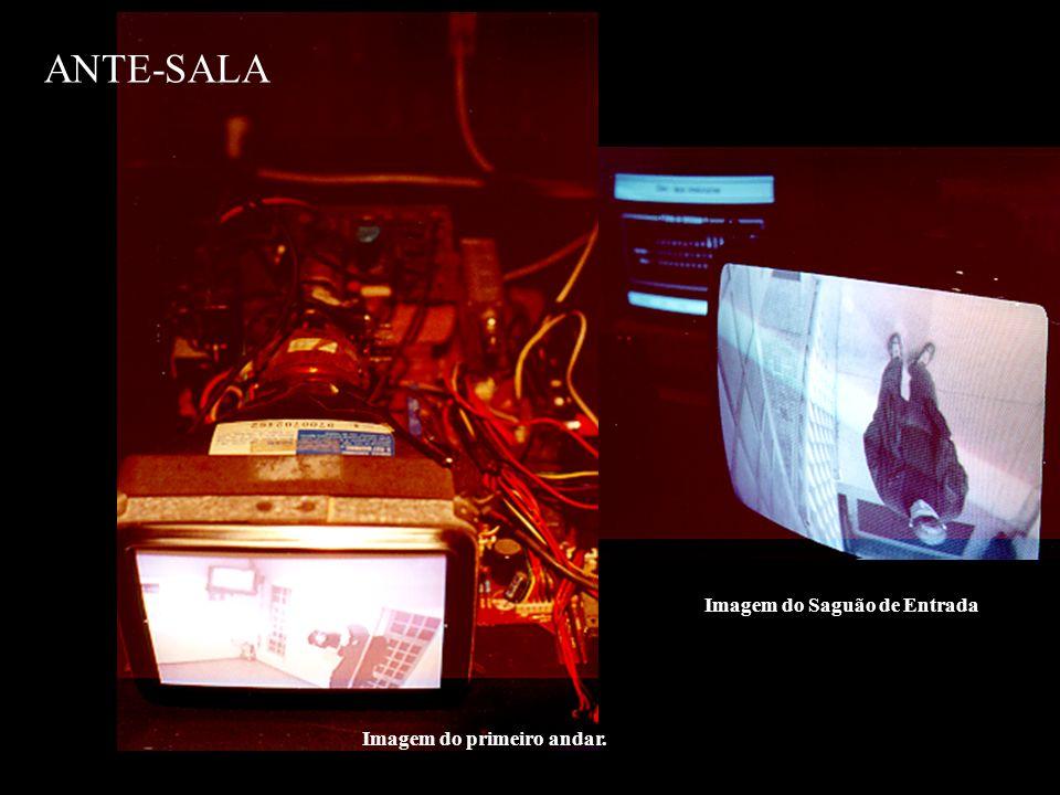 ANTE-SALA Página do site que aglutinava as imagens que partiam da instalação para a Internet, permitindo ao visitante a visualização através da rede, ampliando o espectro de participação.