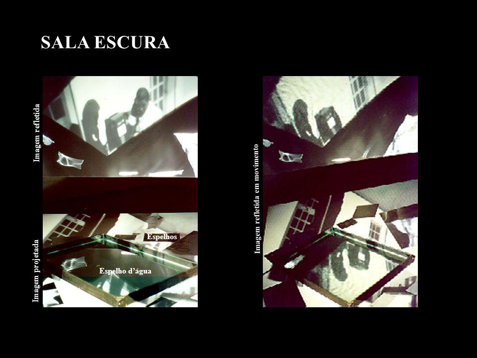 ENTRADA DO PRÉDIO Na entrada do prédio, foi instalada uma micro-câmera no teto, enquadrando as pessoas de ponta cabeça e criando uma outra situação espacial.