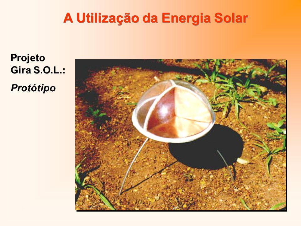 Chapa de Cobre Cobertura de Vidro Estrutura de Cerâmica Pernas em Liga com Memória de Forma A Utilização da Energia Solar Projeto Gira S.O.L.: Protótipo