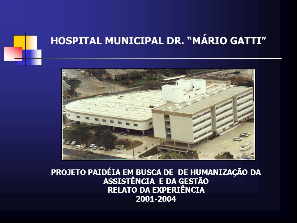 HOSPITAL MUNICIPAL DR. MÁRIO GATTI PROJETO PAIDÉIA EM BUSCA DE DE HUMANIZAÇÃO DA ASSISTÊNCIA E DA GESTÃO RELATO DA EXPERIÊNCIA 2001-2004