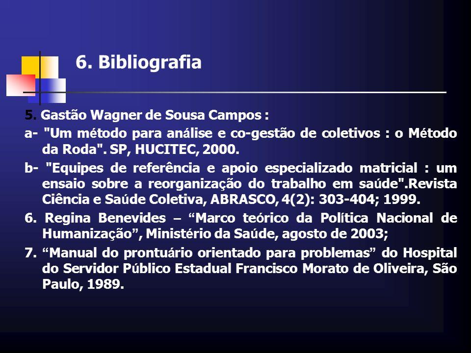 6. Bibliografia 5. Gastão Wagner de Sousa Campos : a-