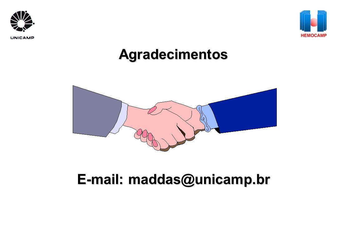 Agradecimentos E-mail: maddas@unicamp.br