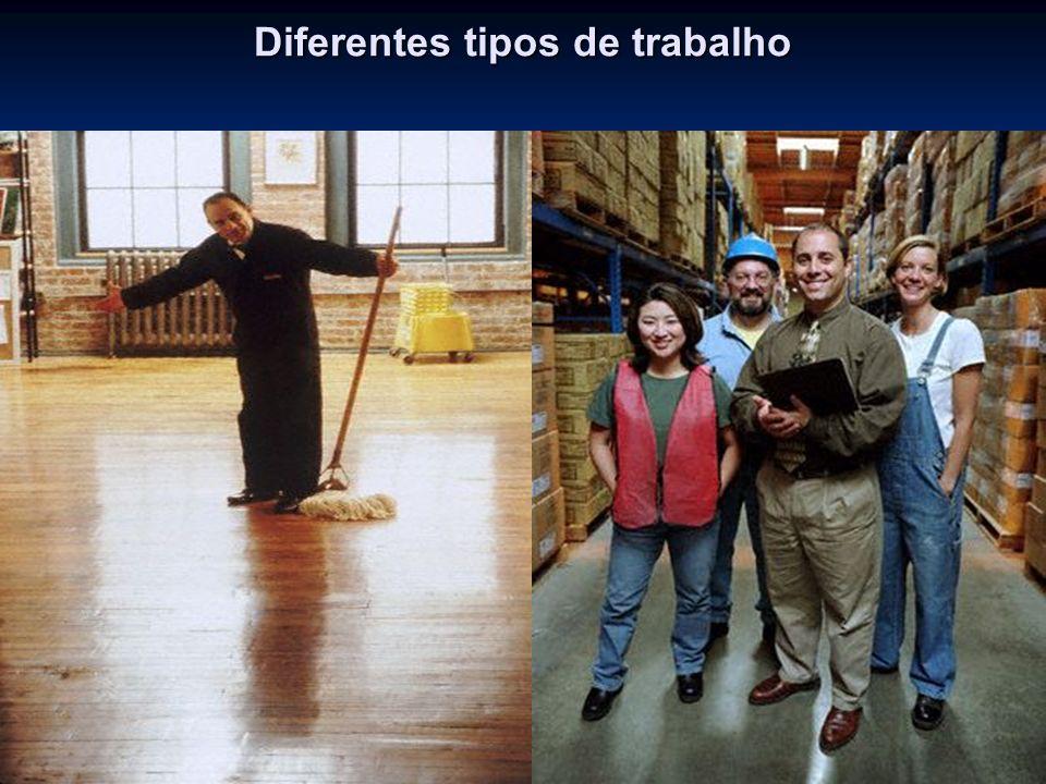 Diferentes tipos de trabalho