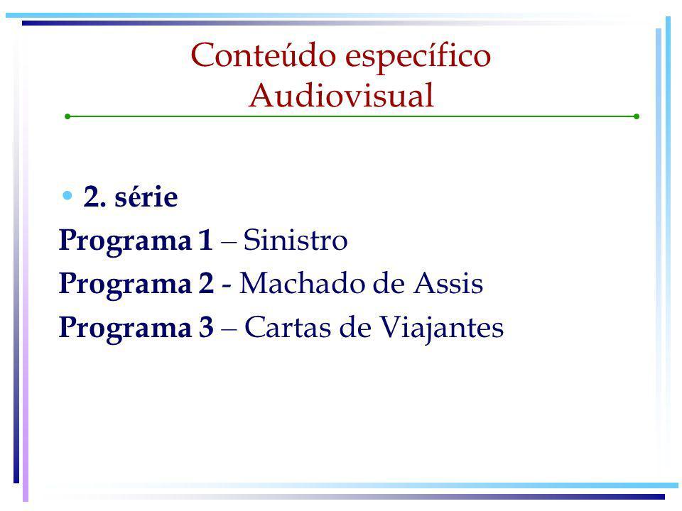 Conte ú do espec í fico Audiovisual 3.