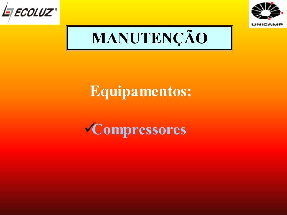 MANUTENÇÃO Equipamentos: Compressores
