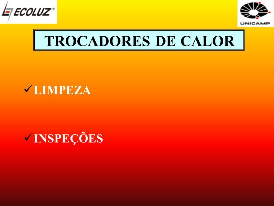 TROCADORES DE CALOR LIMPEZA INSPEÇÕES