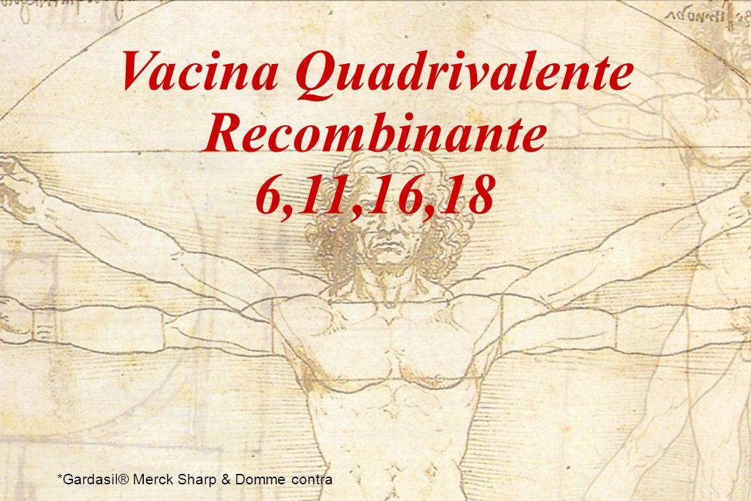 Vacina Quadrivalente Recombinante 6,11,16,18 *Gardasil® Merck Sharp & Domme contra