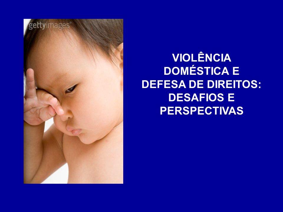 VIOLÊNCIA DOMÉSTICA E DEFESA DE DIREITOS: DESAFIOS E PERSPECTIVAS