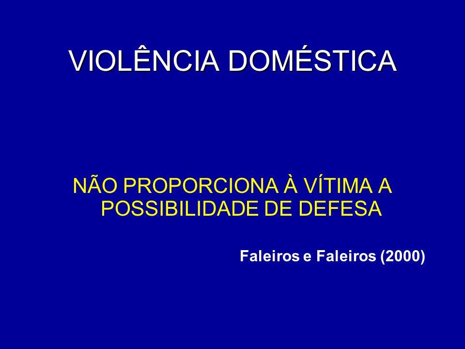NÃO PROPORCIONA À VÍTIMA A POSSIBILIDADE DE DEFESA Faleiros e Faleiros (2000)