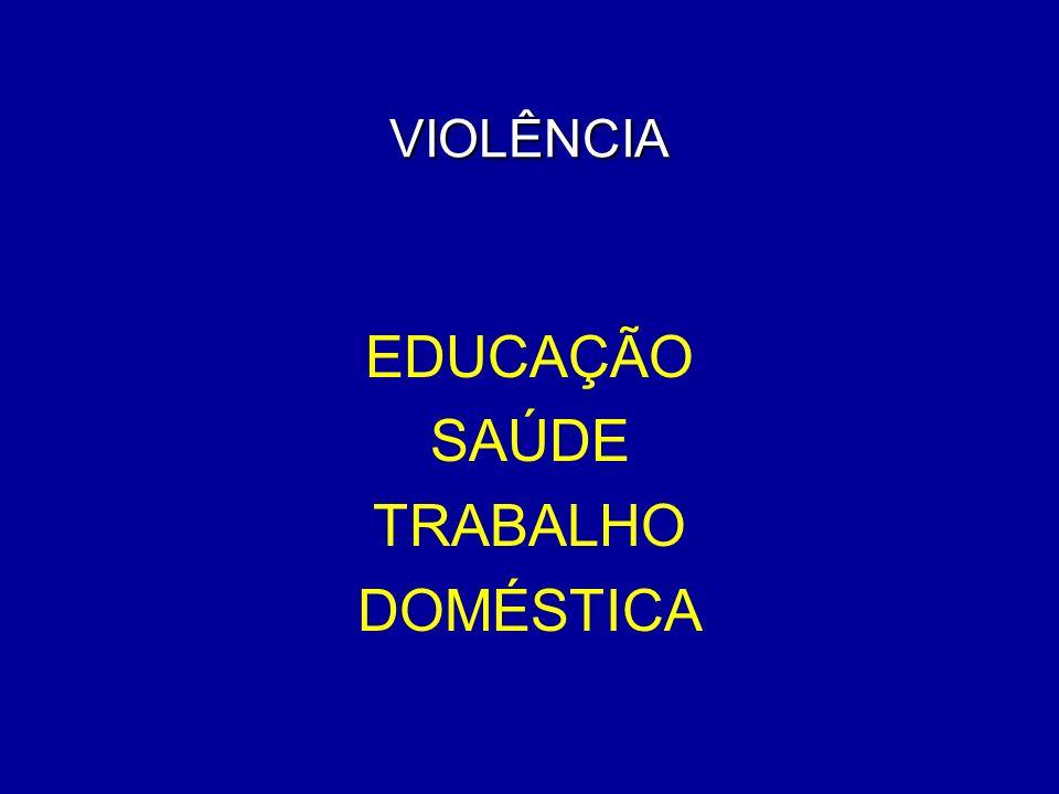 VIOLÊNCIA EDUCAÇÃO SAÚDE TRABALHO DOMÉSTICA