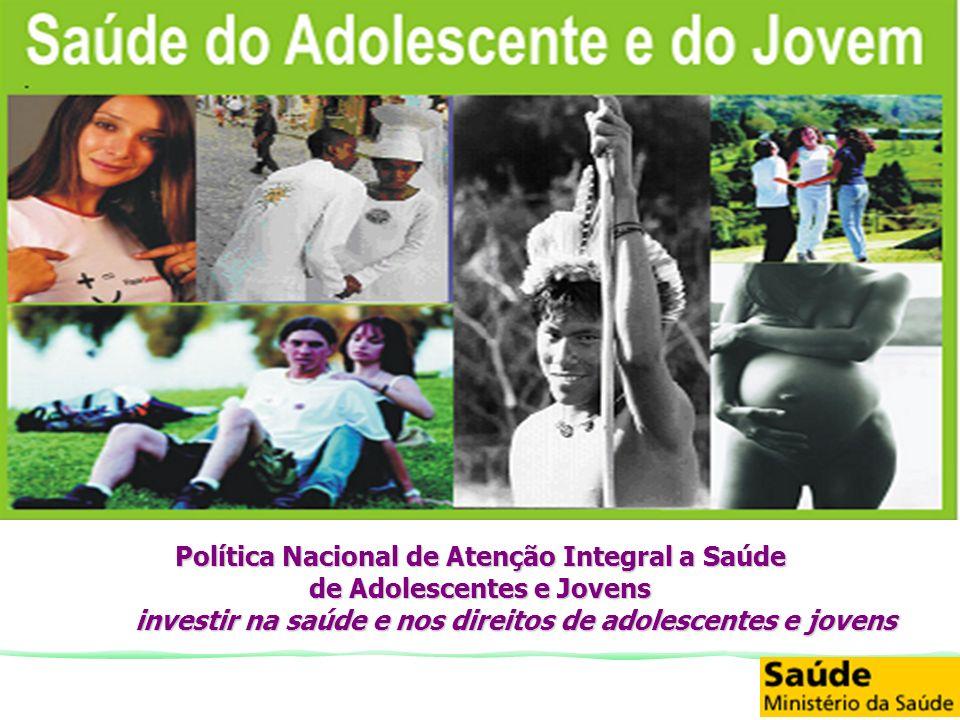 Política Nacional de Atenção Integral a Saúde de Adolescentes e Jovens investir na saúde e nos direitos de adolescentes e jovens
