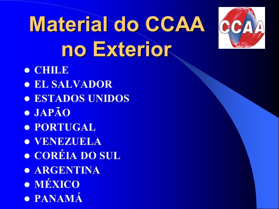 Material do CCAA no Exterior CHILE EL SALVADOR ESTADOS UNIDOS JAPÃO PORTUGAL VENEZUELA CORÉIA DO SUL ARGENTINA MÉXICO PANAMÁ