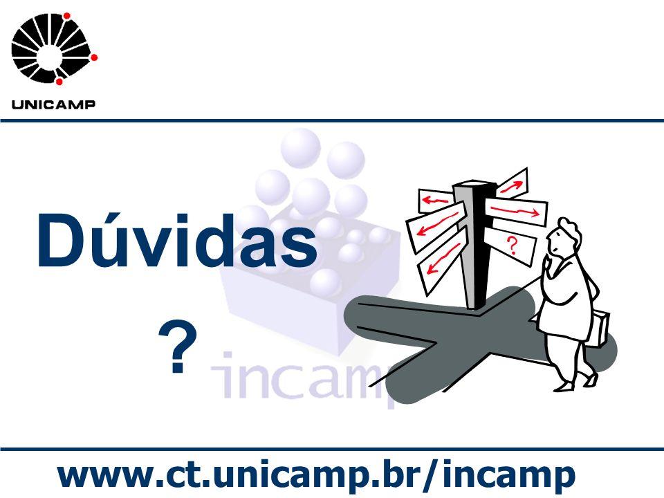 www.ct.unicamp.br/incamp Dúvidas ?